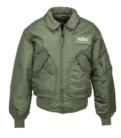 Alpha Industries CWU 45/P Flight Jacket Sage Green