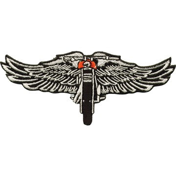 "Chopper With Eagles Wings Motorcycle Vest Patch 4"" x 9"""