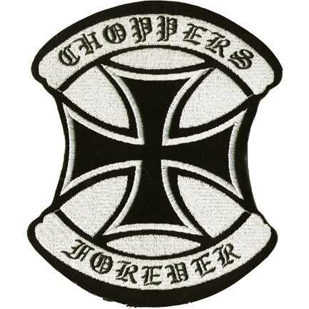 "Choppers Forever Motorcycle Vest Patch 7"" x 6"""