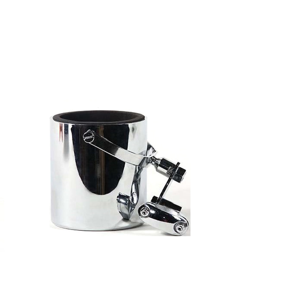 Chrome Motorcycle Cup Holder With Foam Cup Insert