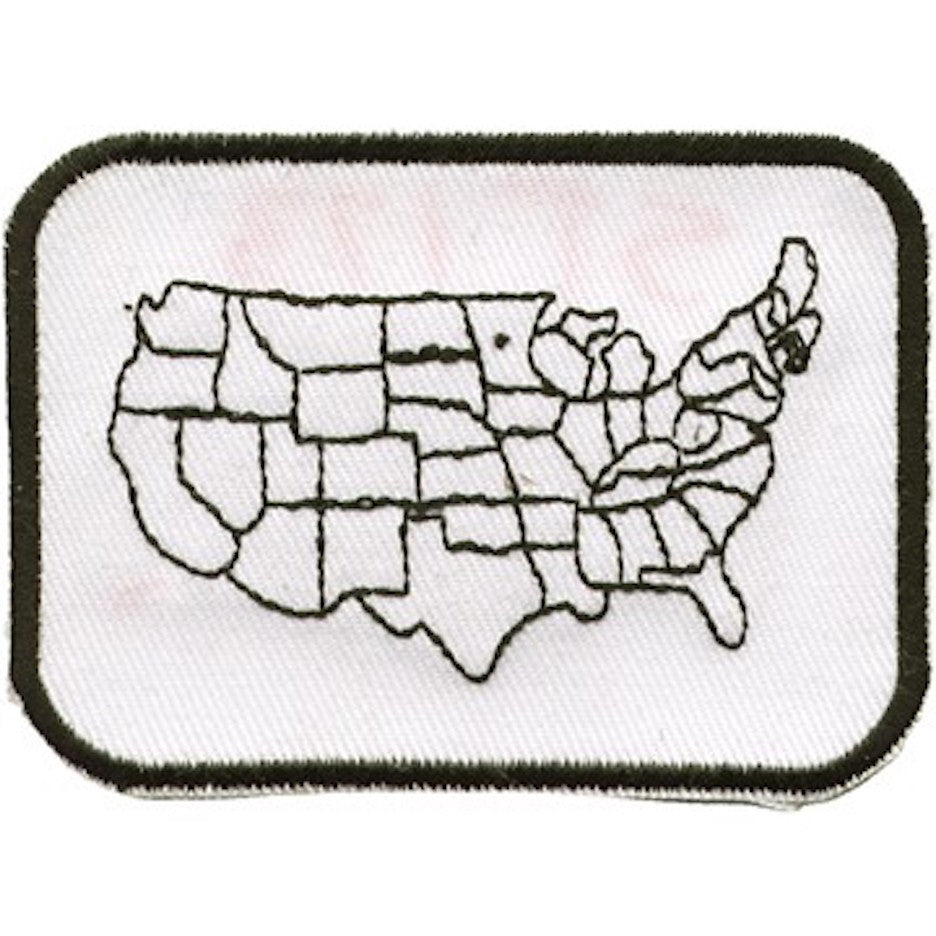 "United States Country Map Medium Motorcycle Vest Patch 4"" x 6"""