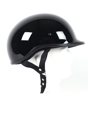 D.O.T Polo Gloss Black Motorcycle Helmet