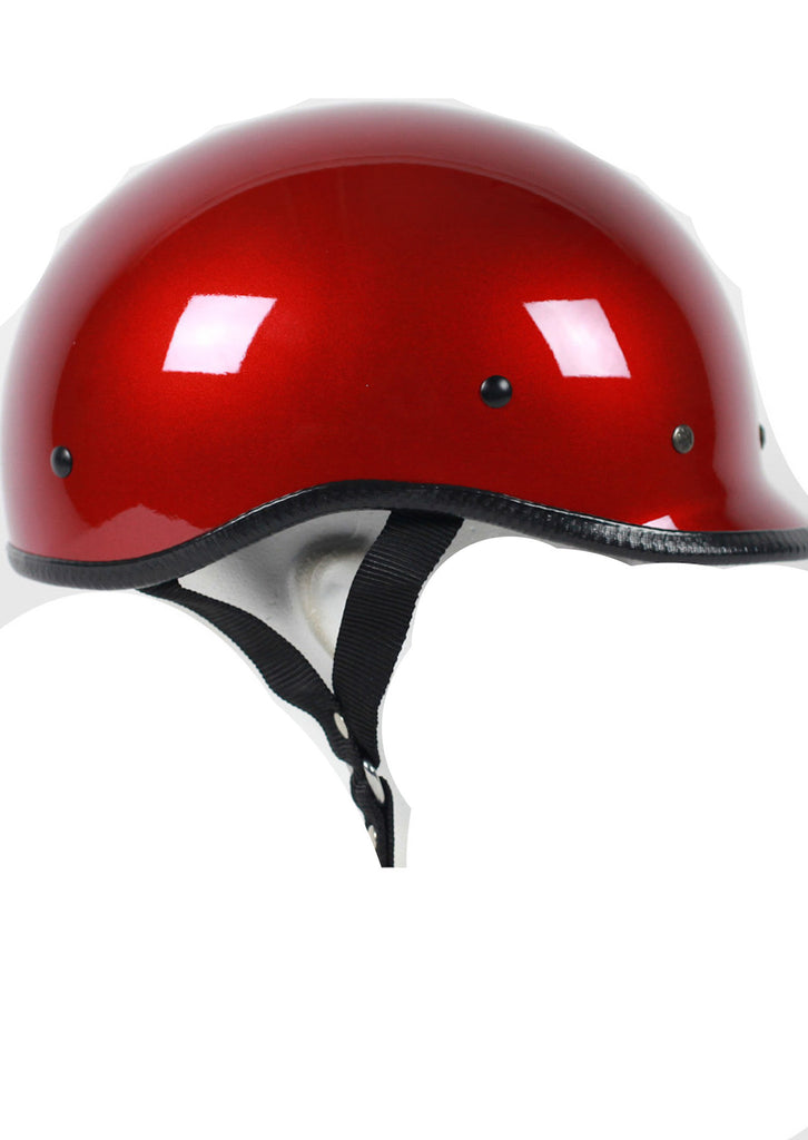 D.O.T Polo Wine Red Motorcycle Helmet