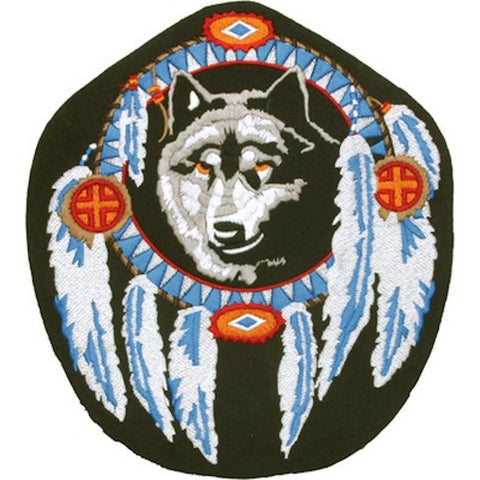 Dreamweaver Wolf Head Large Motorcycle Vest Patch