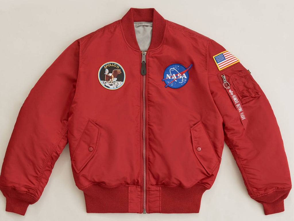 Alpha Industries Apollo MA-1 Flight Jacket Red