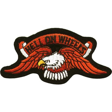 "Eagle ""Hell on Wheels"" Motorcycle Vest Patch 4.5"" x 9"""