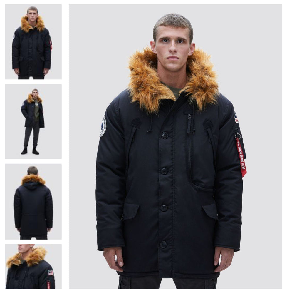 Alpha Industries N-3B Alpine Parka Black
