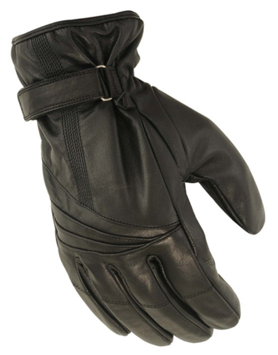 Leather Waterproof Motorcycle Glove With Hipora Rain Insert