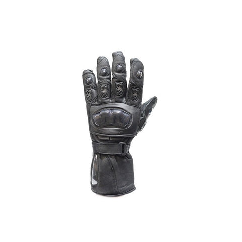 Leather Motorcycle Racing Gloves Padded Fingers Hard Knuckle