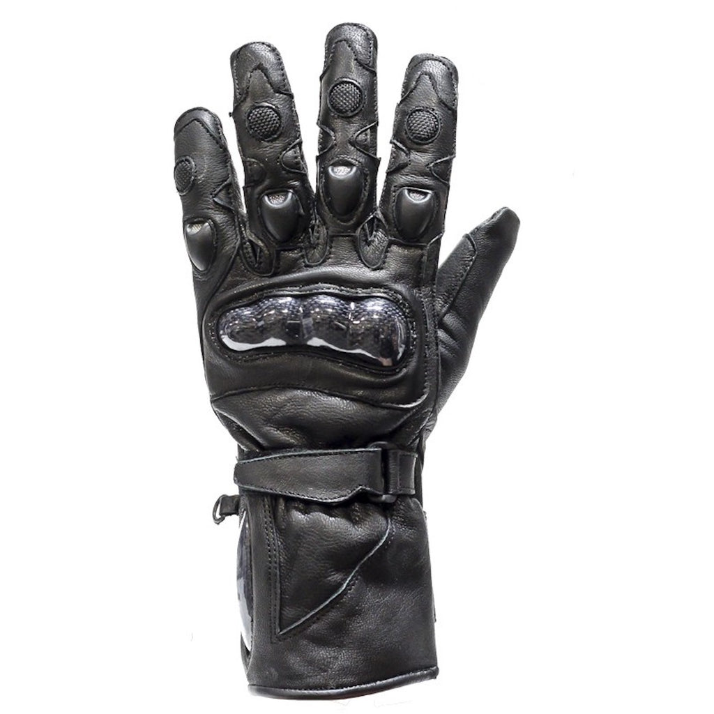 Hard Knuckle Motorcycle Leather Gloves