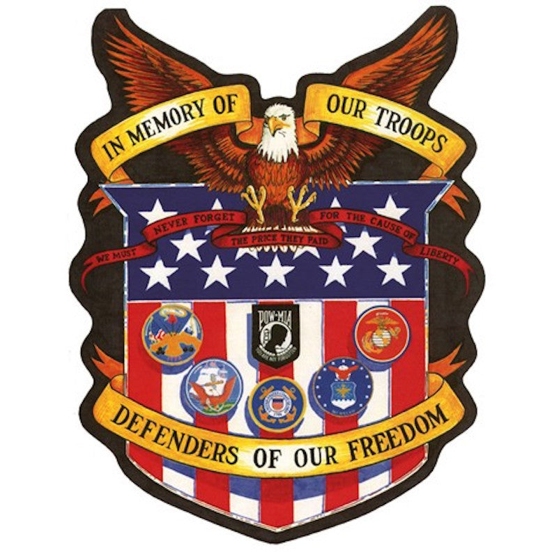 In Memory of Our Troops/Defenders of our Freedom Motorcycle Vest Patch