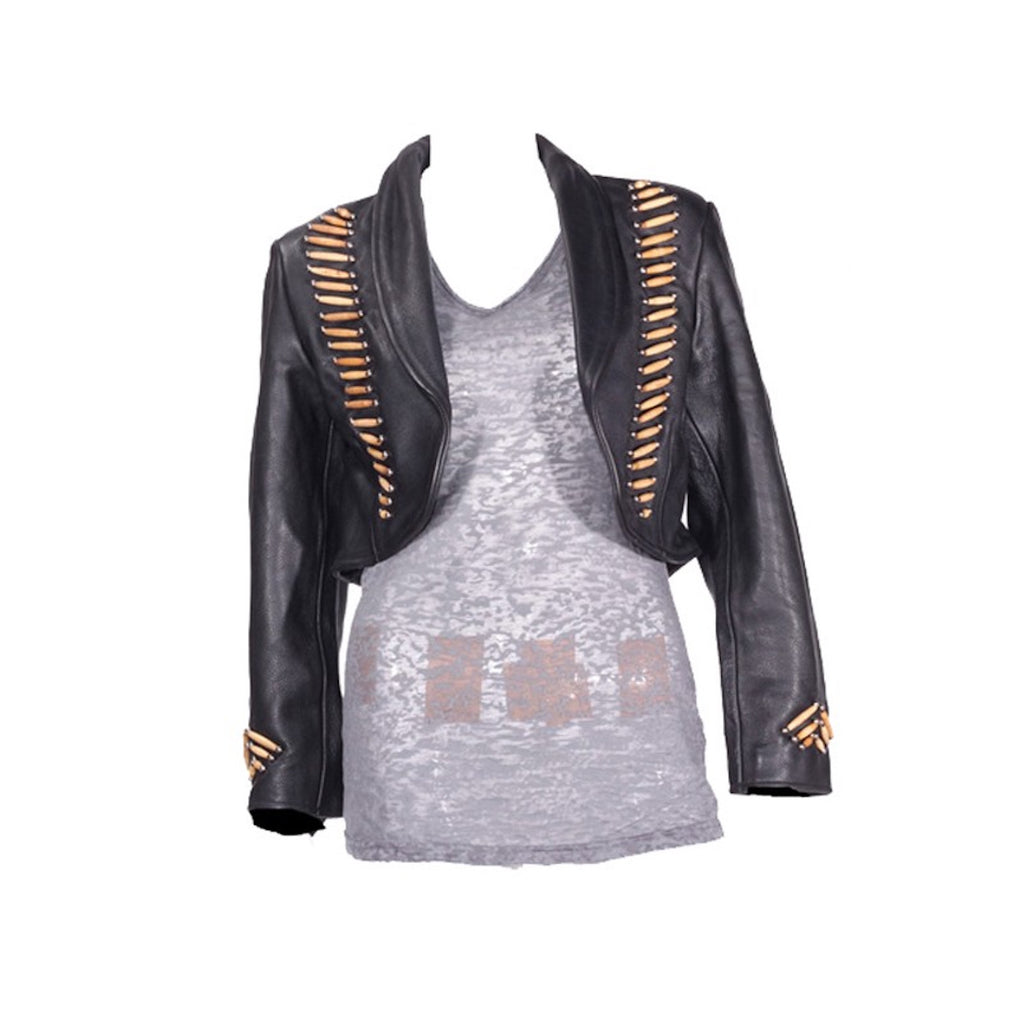 Ladies Balero Jacket with Bone & Studs