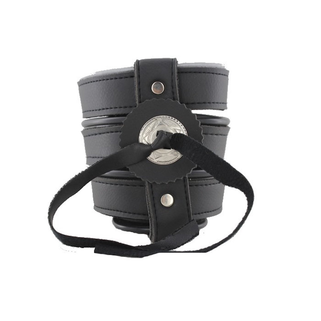 Leather Motorcycle Cup Holder With Concho