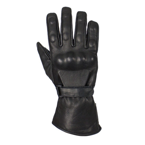 Leather Motorcycle Gloves With Hard Knuckles