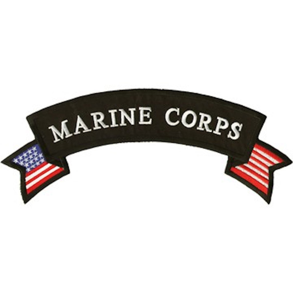 "Marine Corps Large Motorcycle Vest Patch 4.5"" x 12"""