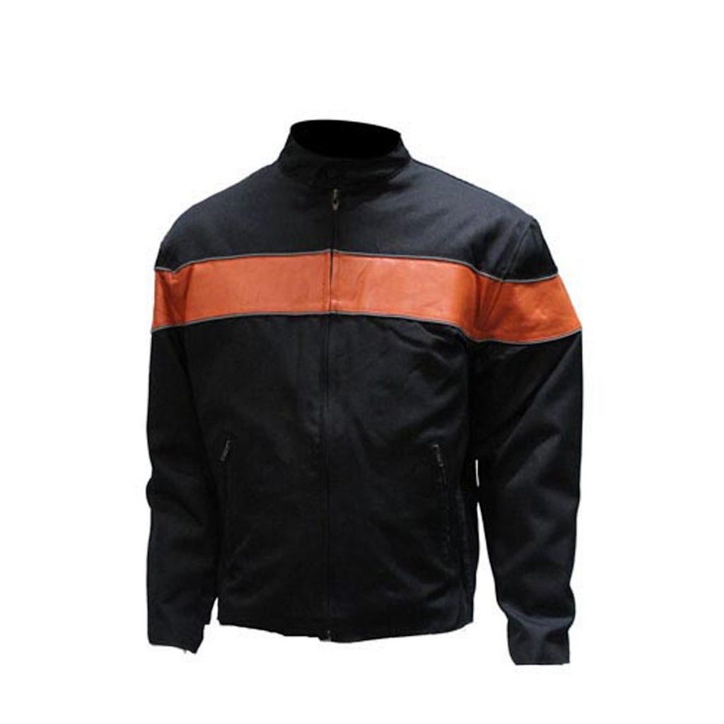 Mens Light Weight Textile Motorcycle Jacket Reflective Stripe