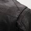 Mens Lightweight Distressed Sheepskin Leather Motorcycle Jacket Fully Vented Armor pockets