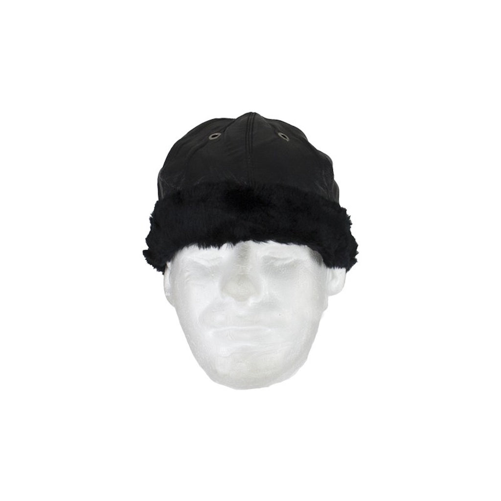Motorcycle Leather Cap With Fur