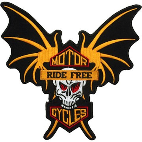 Motorcycles Ride Free Large Motorcycle Vest Patch