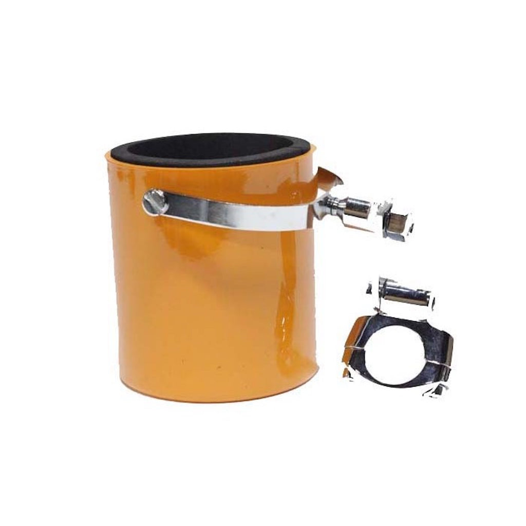 Orange Motorcycle Cup Holder With Foam Cup Insert