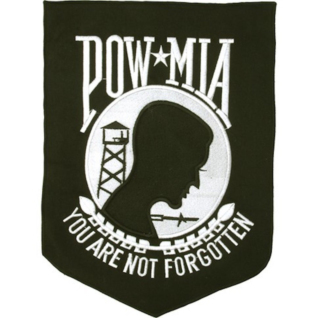 "POW/MIA Banner Large Motorcycle Vest Patch 11.5"" x 8.5"""