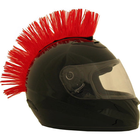Red Motorcycle Helmet Mohawk