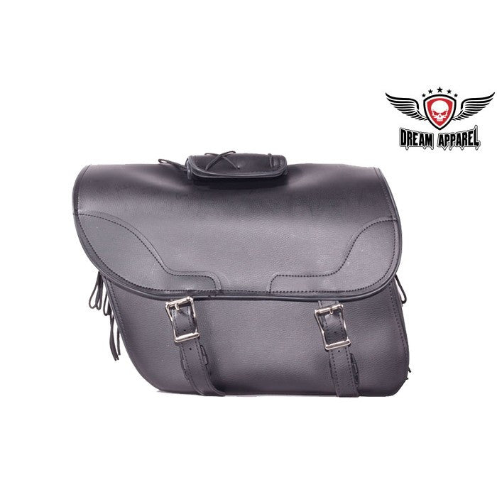 "PVC Waterproof Plain Motorcycle Saddlebag Zip Off Bag 14.75"" x 6.50"" x 12"""