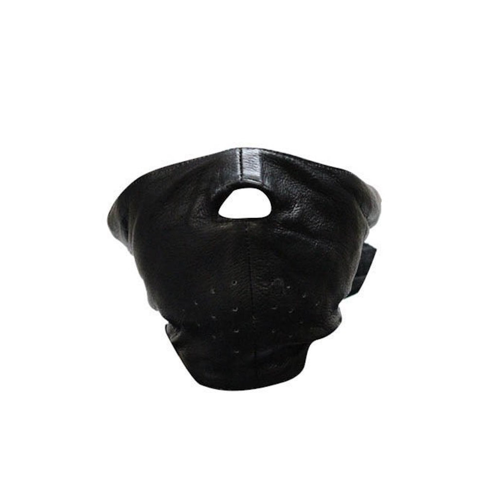 Short Leather Motorcycle Face Mask With Fleece Lining