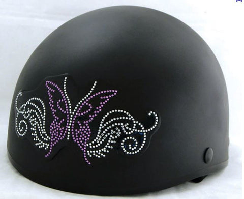 Sparkling Purple Butterfly Rhinestone Helmet Patch