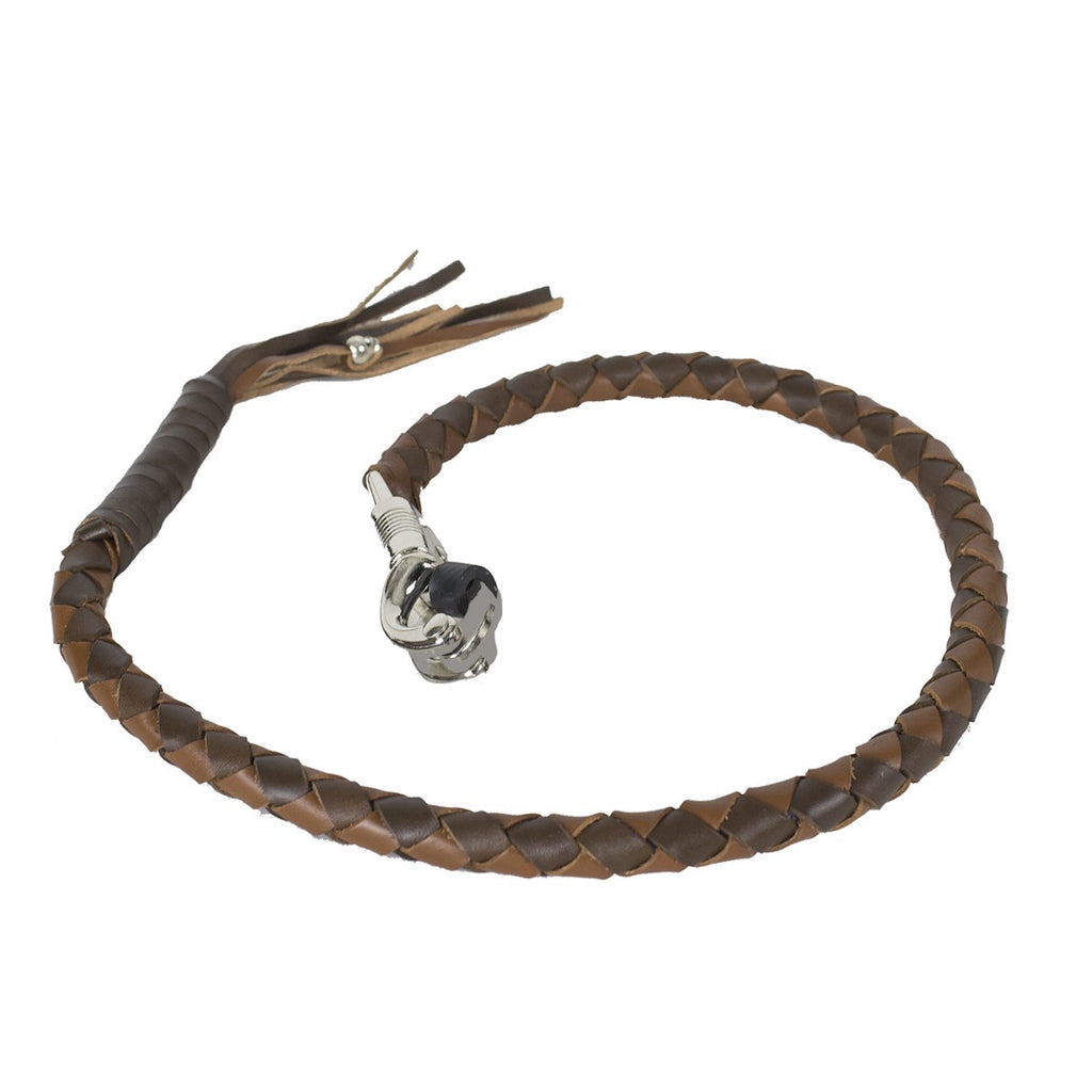 Two Tone Brown Get Back Whip for Motorcycles