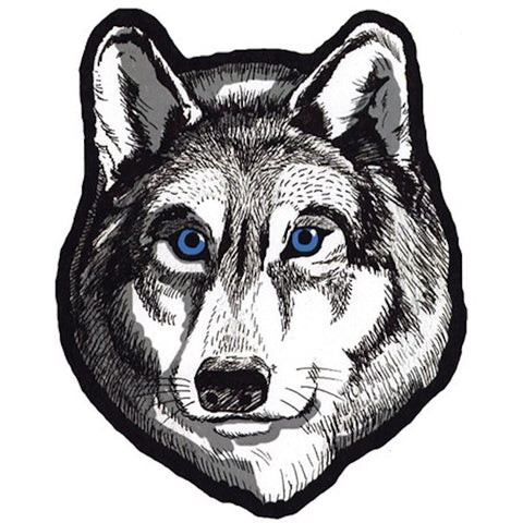 Wolf Head Large Motorcycle Vest Patch