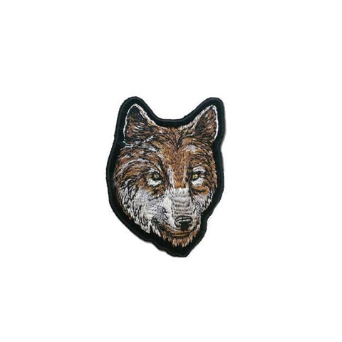 "Wolf Head Motorcycle Vest Patch 5"" x 3.5"""