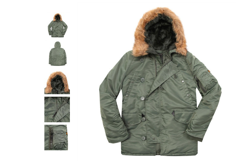 Alpha Industries N-3B Parka Sage Green