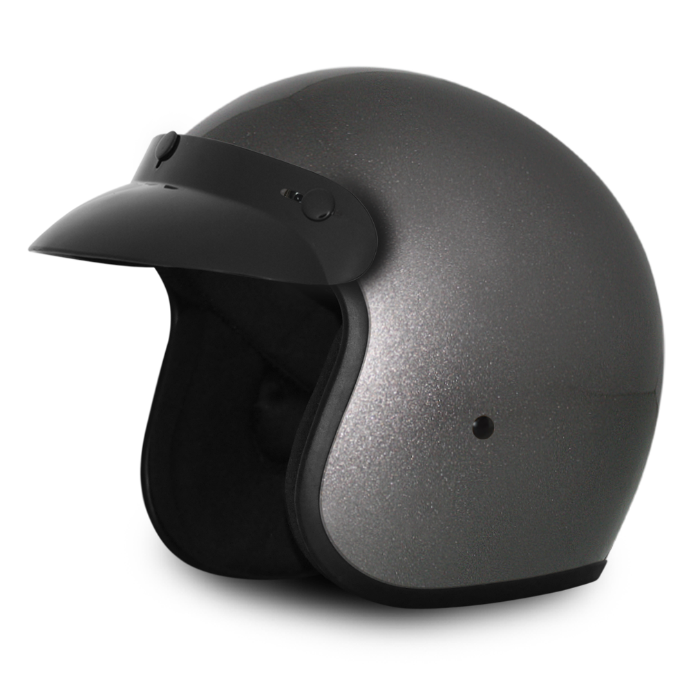 Daytona D.O.T Cruiser Motorcycle Helmet 3/4 Shell Gun Metal Gray Metallic