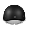 D.O.T Skull Cap Motorcycle Helmet with Inner Retractable Smoke Shield Dull Matte Black No Visor