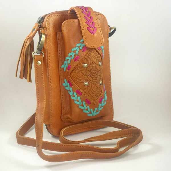 Leather Travel & Phone Pouch | Boho Babe