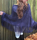 Leather Poncho with Pattern & Fringing | MANDALA Leather Range | Industri Design