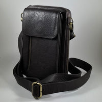 Leather Travel & Phone Pouch | Brown MAN-BAG