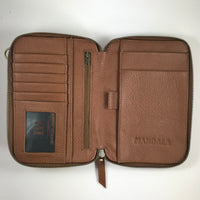Leather Travel & Phone Pouch | Tan MAN-BAG