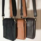 Leather Travel & Phone Pouch | Black MAN-BAG