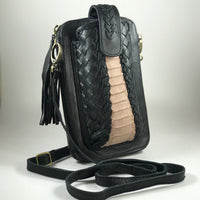 Leather Travel & Phone Pouch | Ooh La La Snakeskin Nude