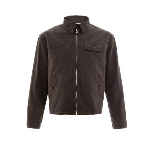 Silk Wax Brown Drizzler Jacket