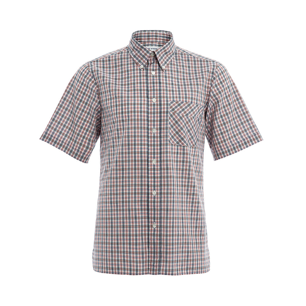Albini Red Check Short Sleeve Shirt