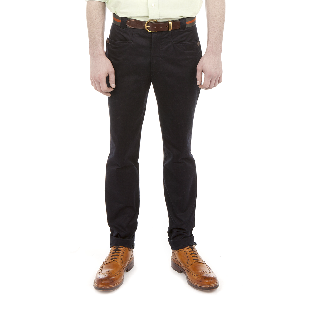 Navy Japanese Twill Chinos