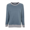 Blue Raglan Striped Sleeve Sweat