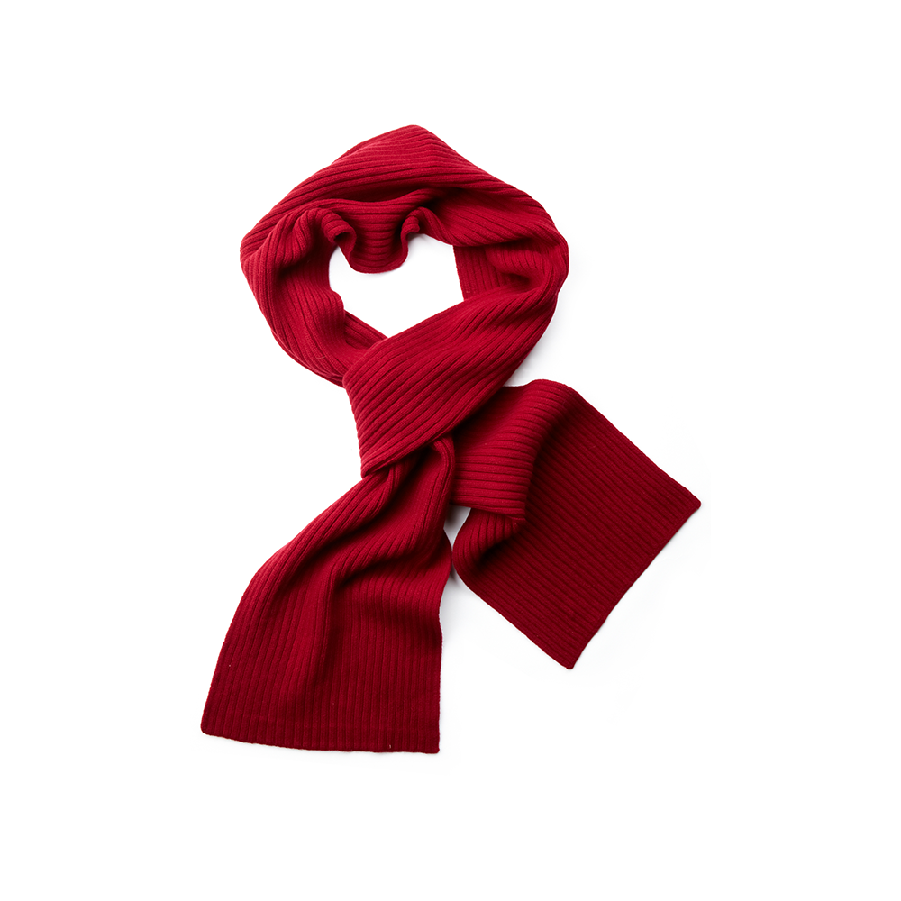 Pure New Wool Scarf in Claret