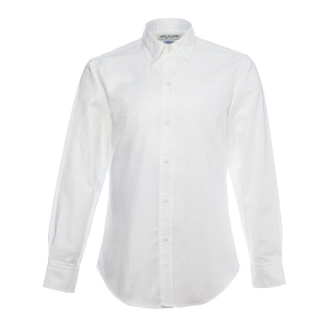 White Oxford 50s Button Down Shirt