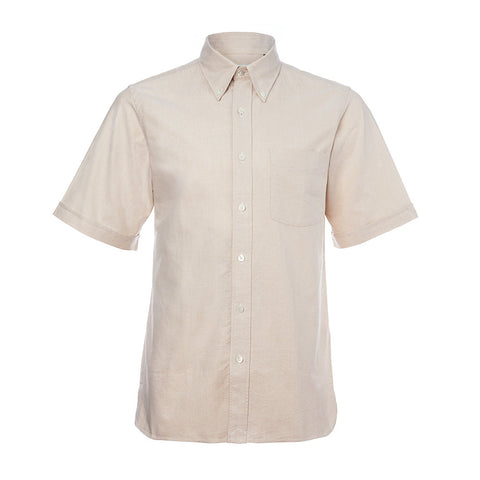 Light Khaki Japanese Cotton Short Sleeve Shirt