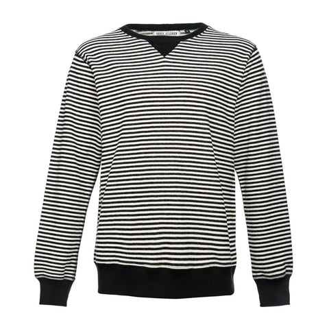 Black/Ecru Stripe Lightweight Sweat