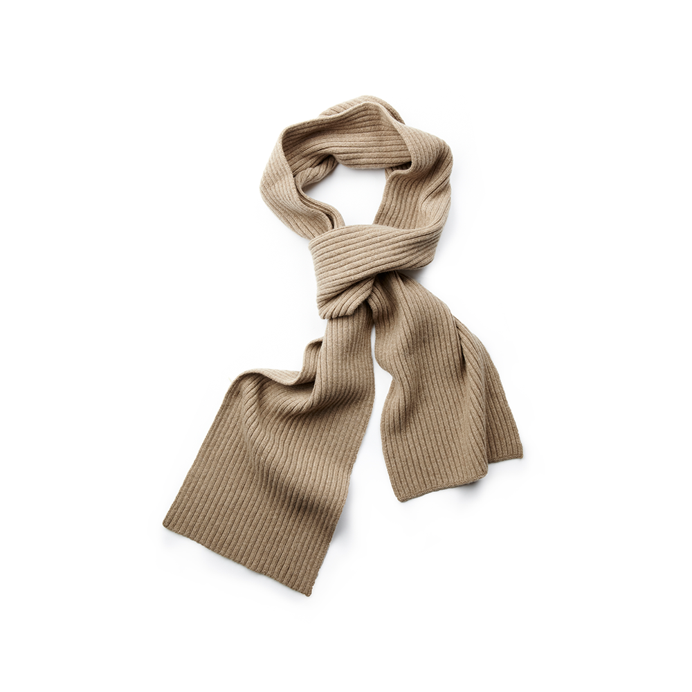 Pure New Wool Scarf in Oatmeal